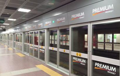 stazione San Siro marchiata Mediaset Premium