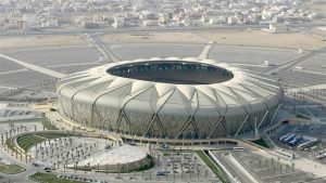 donne allo stadio in Arabia Saudita