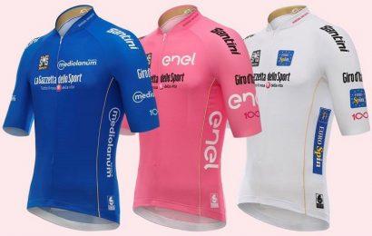 Presentate le maglie del Giro d'Italia