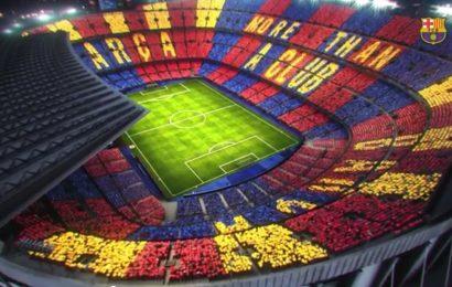 Camp Nou, il mosaico dei 90.000 tifosi del Barcellona