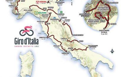 Il percorso del Giro d'Italia 2019