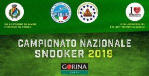 locandina campionato nazionale di snooker