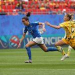 Barbara Bonansea in goal ai Mondiali di calcio femminile