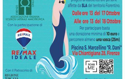 """Nuoto, la maratona di beneficenza """"Una vasca per AISLA Firenze"""""""